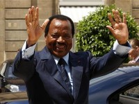 Cameroon's President Paul Biya leaves the Elysee Palace after a meeting with France's President Nicolas Sarkozy in Paris